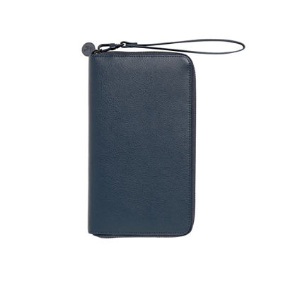 Personalized Gifts in Dubai and all over UAE - Travel Wallet Leather Blue