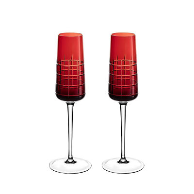 Wedding Gifts in Dubai-Christofle red crystal glasses