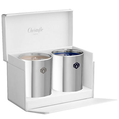 Wedding Gifts in Dubai-Christofle 2 candles gift box
