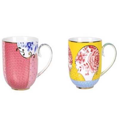 Personalized Gifts in Dubai and all over UAE - MUG ROYAL PINK & YELLOW