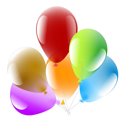 Personalized Gifts in Dubai and all over UAE - Balloons 6 Multicolored inflated