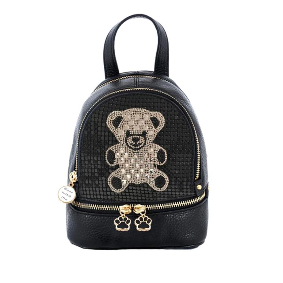 Designer backpack with Bear