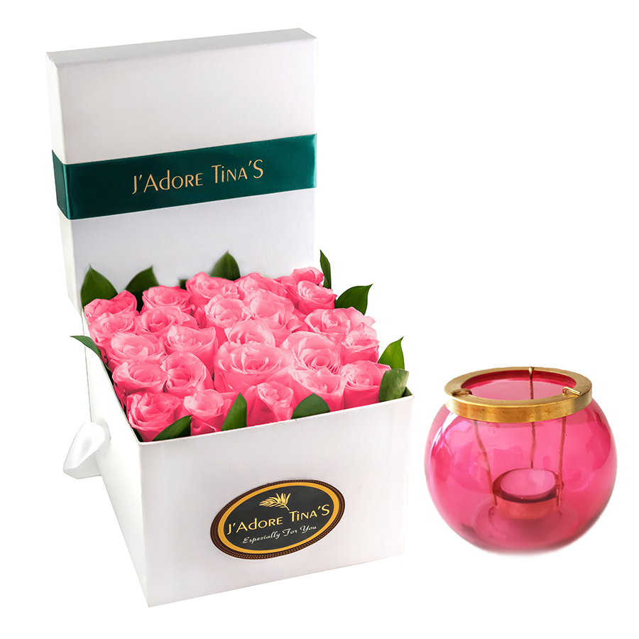 Birthday Gifts – Dubai and all over UAE-Pure Angels Roses & Candle Holder