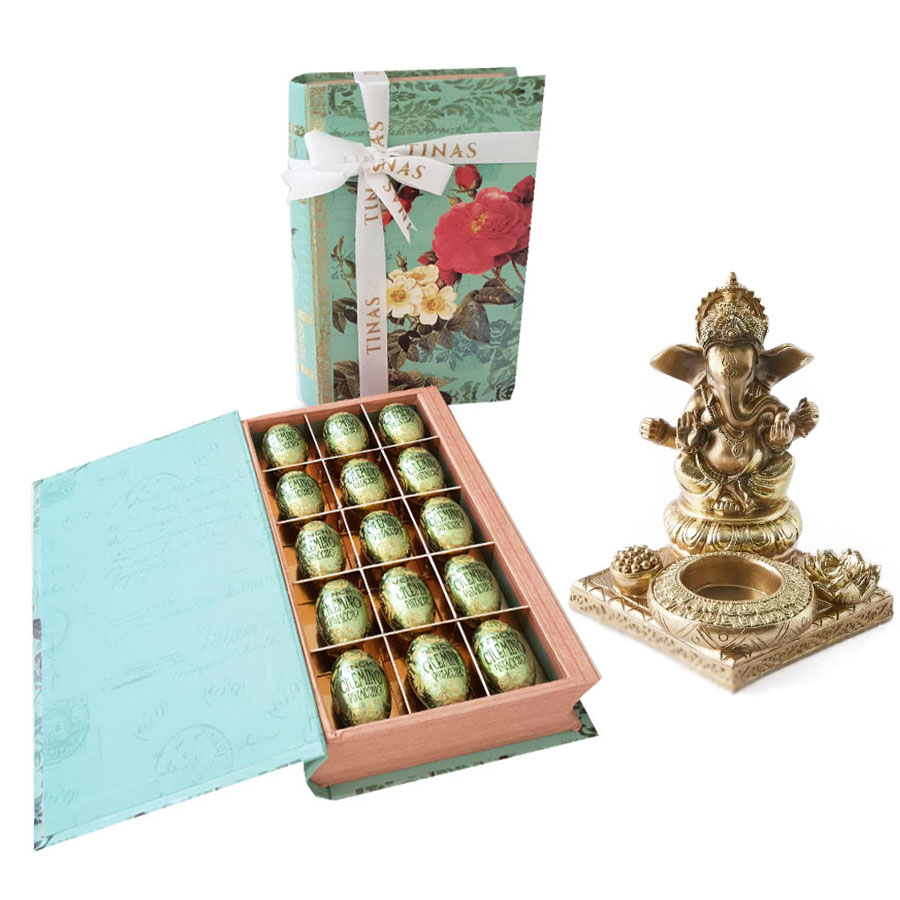 Pistachio Chocolates & Candle Holder