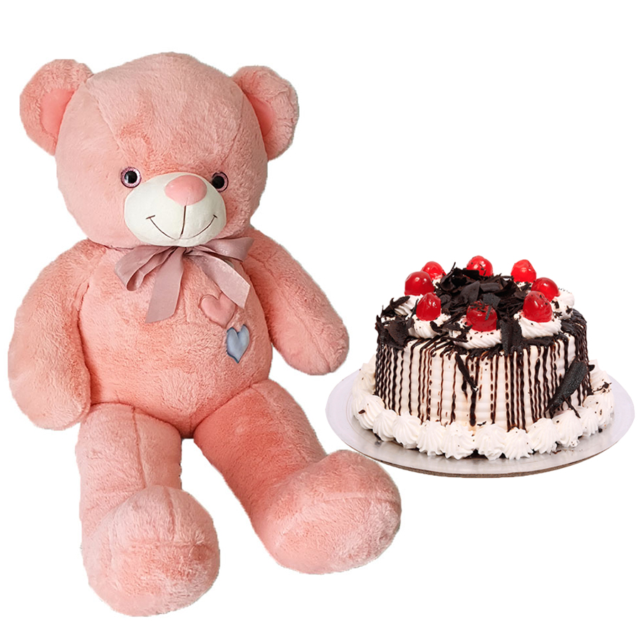 Birthday Gifts – Dubai and all over UAE-Teddy Bear & Black Forest