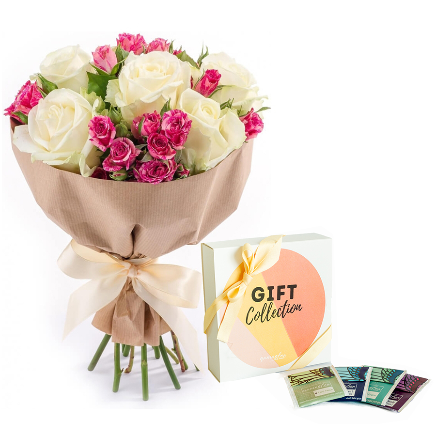 Flower Gifts - Online Flower Delivery Sharjah-Pretty Smile Gift Set