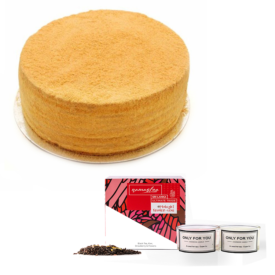 Honey Cake & Premium Tea & Candles