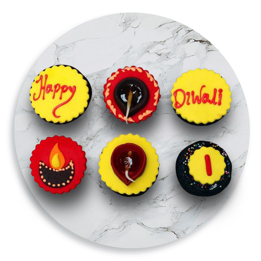 Diwali Chocolate Cupcakes