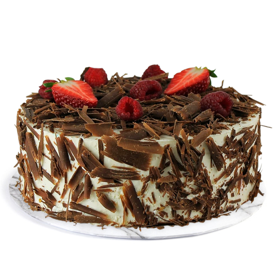 Wedding Gifts in Dubai-Black Forest Cake with Fruit