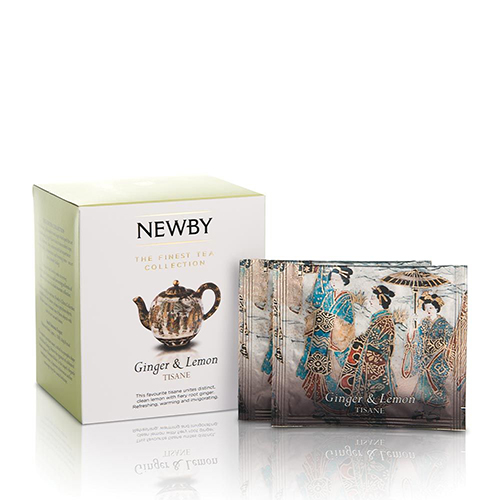Personalized Gifts in Dubai and all over UAE - Newby Ginger & Lemon Silken Pyramids