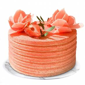 Wedding Gifts in Dubai-Biscuit Strawberry Cheesecake