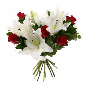 Flower Gifts - Online Flower Delivery Sharjah-Lovely Roses & Lilies Bouquet