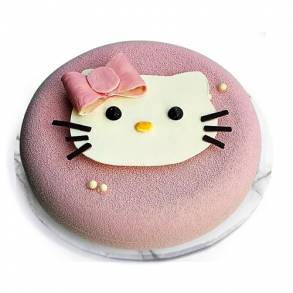 Strawberry Vanilla Kitty Cake