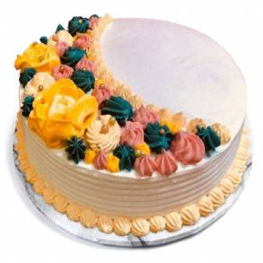 Online Cake and Flower Delivery in Dubai-Rose & Saffron crescent cake