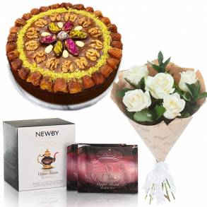 Online Cake and Flower Delivery in Dubai-Special Date Cake Surprise