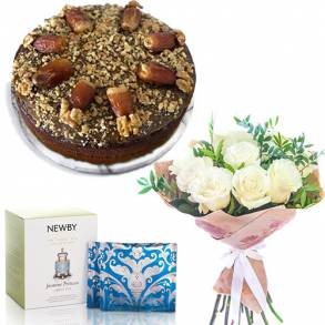 Online Cake and Flower Delivery in Dubai-Date Pudding Gift Surprise