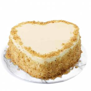 Online Cake and Flower Delivery in Dubai-Heart Carrot Cake